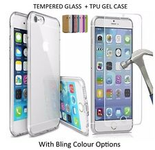 Hybrid 360° Shockproof Slim Case Cover Tempered Glass for Apple iPhone 6s 7 Plus Black iPhone 8