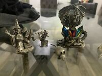 """Magic Tudor Mint Dragon of the Ice Crystals 3.5"""" Pewter Figure And 9 More Pieces"""