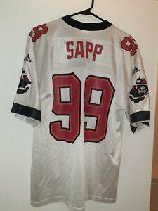 Warren Sapp Tampa Bay Buccaneers Adidas Jersey NFL Vintage 90s sz L