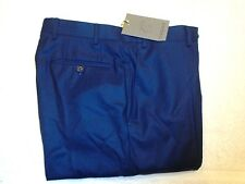 Canali 100% Wool Flannel Navy Blue Dress Pants NWT 32 waist (unhemmed) $395