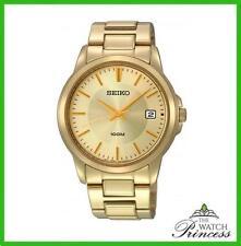 Seiko Men's Quartz (Battery) Gold Plated Strap Wristwatches