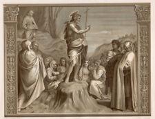 PREDICATION DE SAINT JEAN-BAPTISTE 28X18 Gravure à deux teintes 1860