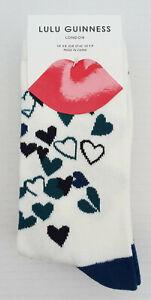 Three Pair Pack of Lulu Guinness, Socks, Size 4-8 - New