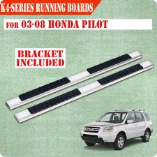 """For 03-08 Honda Pilot/01-06 Acura MDX 4"""" Running Board Side Step Nerf Bar S/S H"""