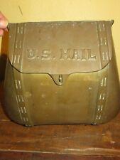 Gorgeous solid brass vintage saddlebag design mailbox