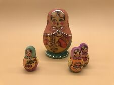 russian nesting doll matryoshka Early 1900's Hand Painted Signed
