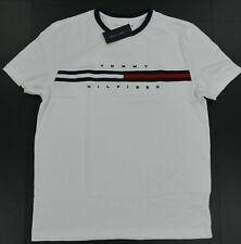 NWT Men's Tommy Hilfiger  Short-Sleeve Tino Tee (T) Shirt Color Block White