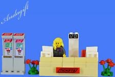 LEGO train station ticket desk bus station airport minifigure aag