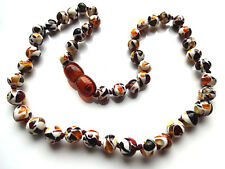 ROUND BEADS MOSAIC  BALTIC AMBER BABY NECKLACE  !!!