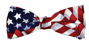 UNCLE SAM AMERICAN FLAG BOW TIE JULY 4TH PATRIOTIC COSTUME ACCESSORY BB41