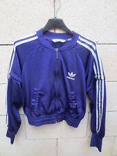 Veste ADIDAS girl femme violet tracktop jacket 40 sport détente