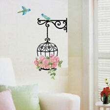 Flower Bird Cage Removable Wall Sticker Room Decor Mural Art Home Decal