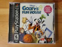 Disney's Goofy's Fun House (Sony PlayStation 1, 2001) PS1 Complete Game TESTED