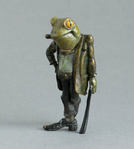Miniature COLD PAINTED BRONZE Gentleman Frog MR TOAD Wind in the Willows SIGNED