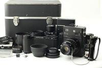 [Near MINT] Mamiya Universal Press Black 127mm 250mm Lens + etc SET From Japan