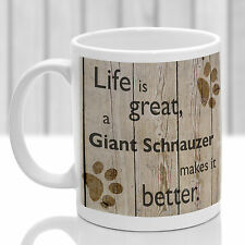 Giant Schnauzer dog mug, Giant Schnauzer gift, ideal present for pet lover
