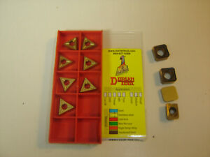 Dorian Tool TDEX160304 DASP35B Grade Carbide Milling Insert Set of 9 Pieces