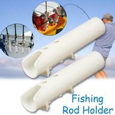 White Boat Plastic Rod Holders 2holes Fishing Plastic Holder Rack Rod Speci O3K4