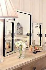 Large Wall Mirror Very Modern All Glass Venetianing Table 1Ft10 X 2Ft7