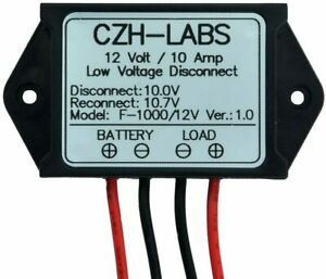 Low Voltage Disconnect Module LVD, 12V 10A, Protect/Prolong Battery Life.