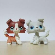 2 Lot Littlest Pet Shop LPS Figure Toys #1542 #363 Collie Puggy Dog