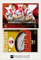 2005 Select NRL Power Predictor Card + Playmaker PM11 C. GREENSHIELDS/B.HORNBY**