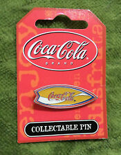 #T22.  COCA COLA  COKE  SURFING PIN - YELLOW SURFBOARD