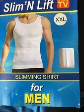 Men's snellente Body Corsetto più nitide Compressione T-SHIRT SLIM N LIFT Fit Vest XXL