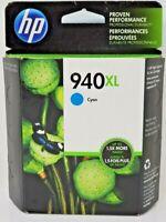 HP 940XL Cyan Ink Cartridge C4907AN Genuine New Free Shipping