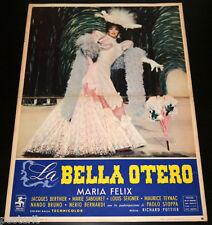 soggettone originale LA BELLA OTERO Maria Felix 1955