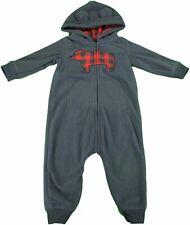 Carters Kids Boy Winter Hoodie Fleece Bodysuit Romper...