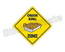 """*Aluminum* Onion Ring Zone Funny Metal Novelty Sign 12""""x12"""""""