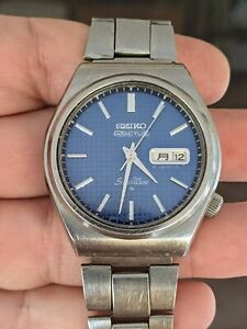 Vintage '76 Seiko 6306-8010 Actus Silverwave JDM Watch, Orig. Band, Runs/Repair