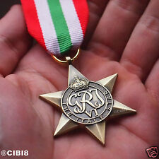 ITALY STAR MEDAL WW2 BRITISH COMMONWEALTH MILITARY AWARD FULL SIZE REPRO NAVY .