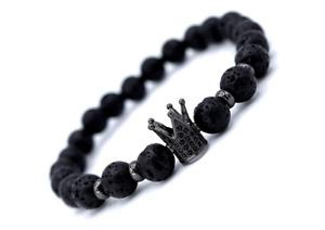 Lava Perlen Armband Krone Freundschaft Fitness Liebe Geschenk Weihnachten Top