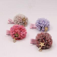4 X Girls Kids Multi Layer Flowers Hair Clips