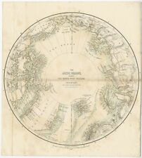 Antique Map of the North Pole by Fullarton (1856)