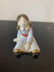 Treasures Of Childhood Rag Doll Figure Royal Crown Derby 2002 MMXIII Imari
