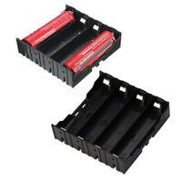 DIY Black Battery Holder Box Case For 4x 18650 3.7V Rechargeable Batteries Safe