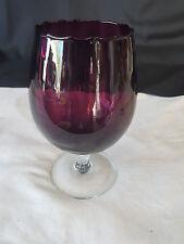 Retro Purple Barley Twist Stem Brandy Glass or Vase