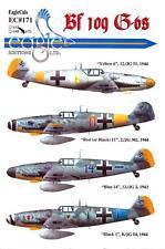 EagleCals Decals 1/72 MESSERSCHMITT Bf-109G Fighter Collection Part 1
