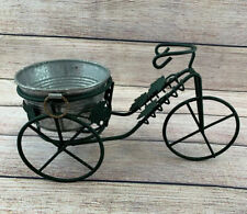 Small Tricycle / Bicycle Flower Plant Pot Holder With Mini Wash Tub