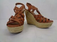 Fergalicious Caprinni Basket Weave Hemp Wrapped 5 Inch Heel Women's Shoes 6.5m