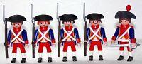 4 x FRANZOSE SOLDATEN + OFFIZIER INFANTRIE REG.2 Playmobil z Garde Napoleon 1522
