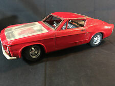 Old Vtg Antique Red Ford Mustang Bandi? Tin Toy Car Made in Japan