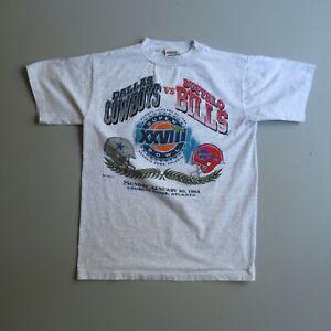 Vintage Super Bowl XXVIII VTG T Shirt Cowboys Bills Dallas Buffalo 1994 L