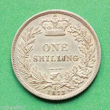 1873 Queen Victoria Silver Shilling Die 52 SNo40616