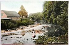 Chilham England Kent ~1910 Partie The Stour Bach Creek River Fluß Girl Mädchen