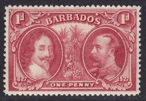 BARBADOS 1927 SG240 1d CARMINE UNMOUNTED MINT