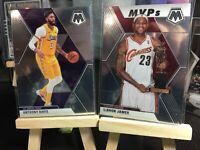 2019-2020 Panini Mosaic Lebron James-Anthony Davis 2card Lot #298-#18 Lakers